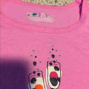 Ladies pajama tops (2) size XL