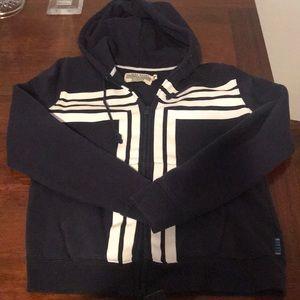 Tory Sport Navy Fleece Zip Up