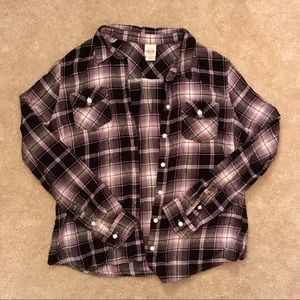 Purple and black Mossimo flannel