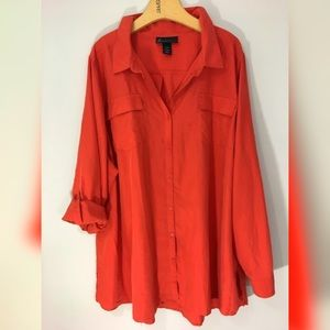 LANE BRYANT holiday party button down shirt