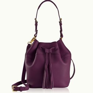 Gigi New York wine colored Jenn bucket bag