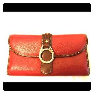 Dooney & Bourke red leather wallet
