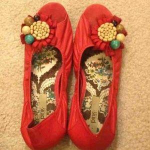 Anthropologie Peep Toe Shoes