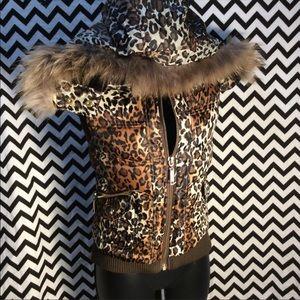 Cache leopard corset vest