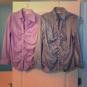 Set of 2 button down shirts. NY&C. Size XL