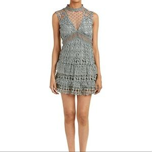 Romeo and Juliet Dusty Sage Couture Dress NWT
