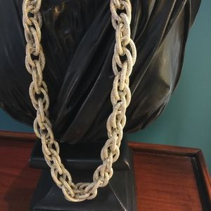 Gold tone chain link ladies necklace