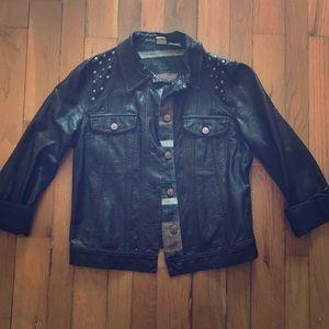 Dark brown Roxy Leather Jacket