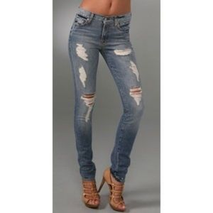 7 for all mankind distressed Roxanne jeans