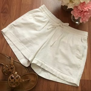 Old Navy White Linen Shorts