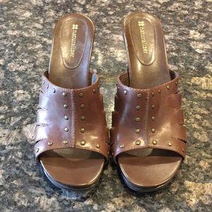 Brown heels/sandals/slip ons