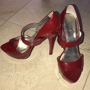 Red BEBE heels size 8