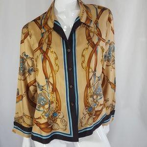 Vintage Dana Buchman Silk Blouse 12P