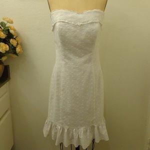 A.B.S by Allen Schwartz Eyelet Strapless Dress