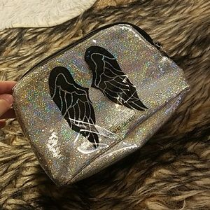 VS angel wing bling sequin makeup bag fashion show