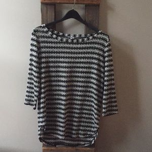 Splendid (Anthropologie) Black and Silver Sweater