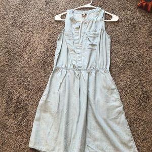 Light colored denim dress