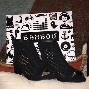 Black Open-Heel Premium Bootie