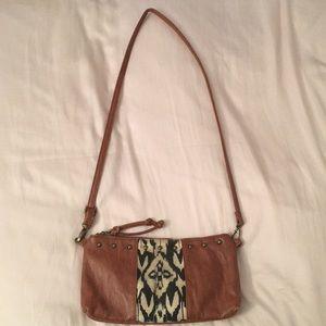 Tribal Leather Crossbody Bag