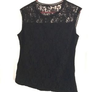 New York and Co black lace sleeveless top. Size M