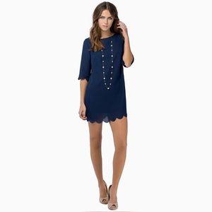 🖤TOBI🖤 Navy Blue Scalloped Shift Dress