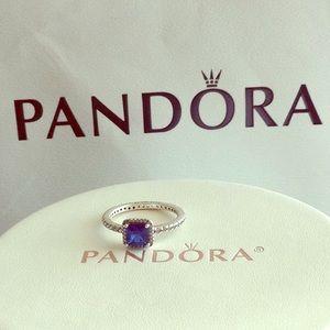 Pandora Timeless Elegance True Blue Crystal Ring