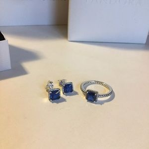 3b0c84dd0 Pandora Jewelry | Timeless Elegance True Blue Crystal Ring | Poshmark