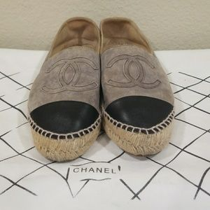 authentic CHANEL Suede Lambskin Espadrilles