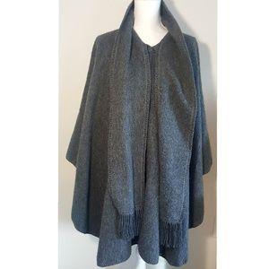 Jackets & Blazers - 《VINTAGE》 Grey Cape/ Poncho | One Size