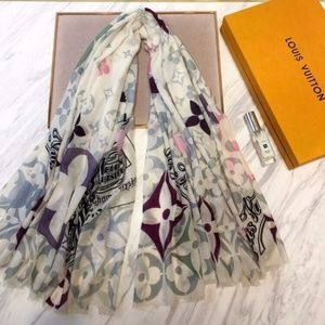 LOUIS VUITTON  Scarf shawl