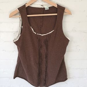 Anthropologie Odille Brown Tank