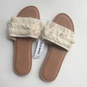 Old Navy Fringe Slide Sandals