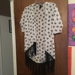 Small Medium Skull Shrug Cardigan from Hot Topic