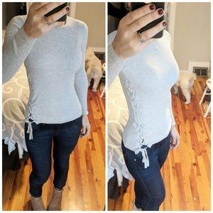 Banana Republic Lace-up Sweater XS