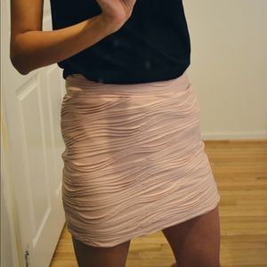 Urban Outfitters Sparkle & Fade light pink skirt