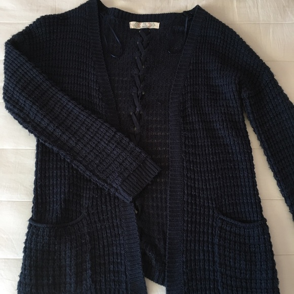 45% off Pink Rose Sweaters - Navy cardigan with pockets from ...