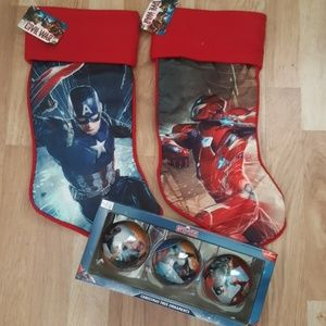 marvel other captain america marvel christmas stocking ornament