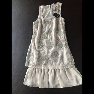 Ted Baker sequins dress ivory New!!!