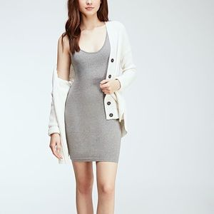 Light grey stretch body con dress