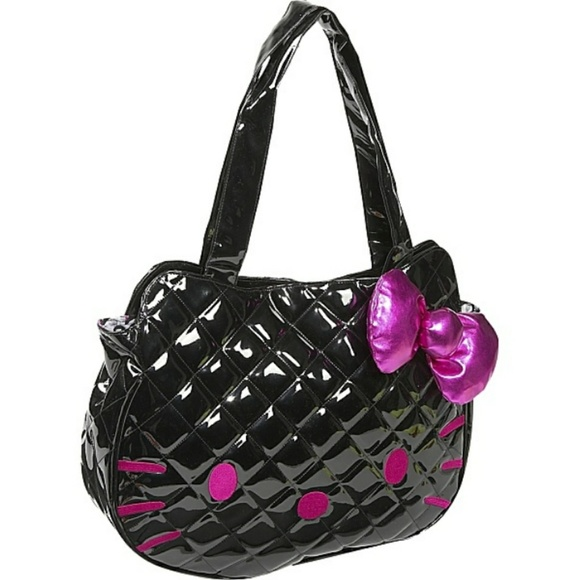 58% off Hello Kitty Handbags - Hello Kitty Patent Leather Quilted ... : leather quilted purse - Adamdwight.com