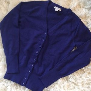 🆕 cotton on electric blue cardigan size small