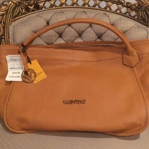 Valentino leather hobo bag