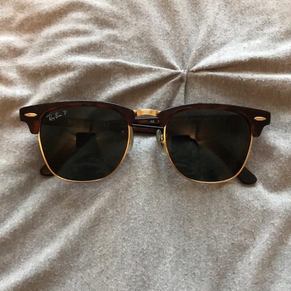 1d0fb6fe30 Ray-ban clubmaster polarized tortoise sunglasses. M 5a10954e291a3525ce030f9a