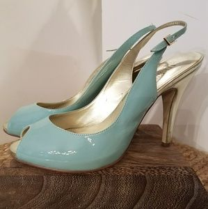 Guess Patent Leather Peeptoe Heels