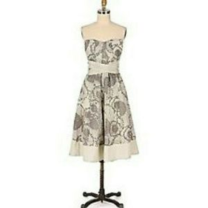 Anthropologie Odille Gypsophila Floral Tea Dress 2