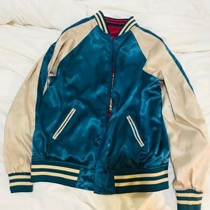 Silk Double Sided Bomber Jacket