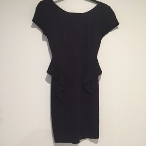 Express black fitted peplum dress