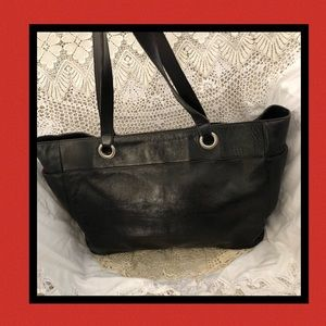 HOBO Black Leather & Red Interior USED CONDITION