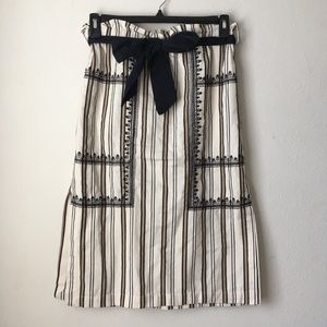 Striped Skirt With Embroidery