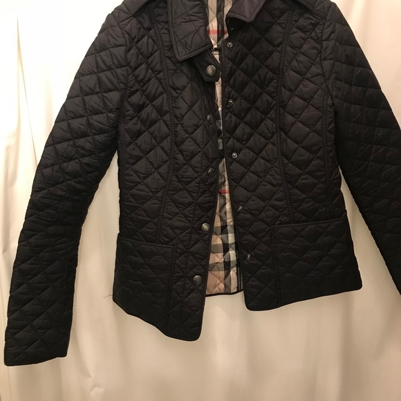 41% off Burberry Jackets & Blazers - Burberry Quilted Black Coat ...